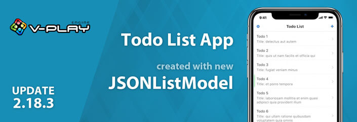 Release 2.18.3: QML JSON ListModel and Todo List App - Felgo