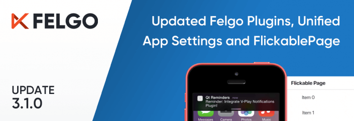 Release 3.1.0: New Felgo Plugins Version and Unified App Configuration