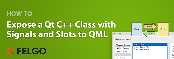 Expose a Qt C++ Class with Signals and Slots to QML