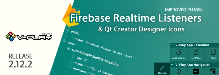 Firebase Realtime Listeners & Designer Icons for Felgo & Qt