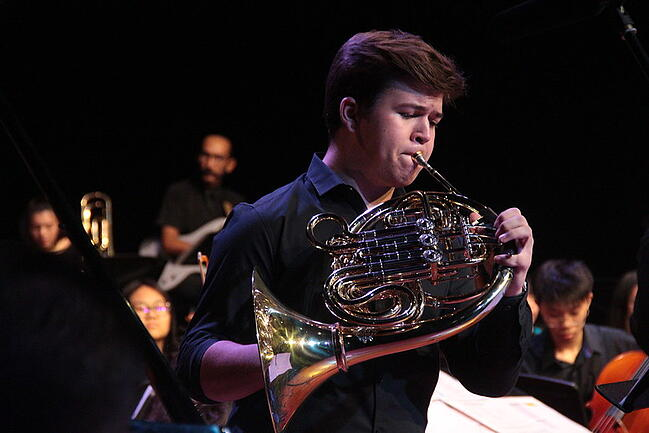 Music scholarships for Horn player Max