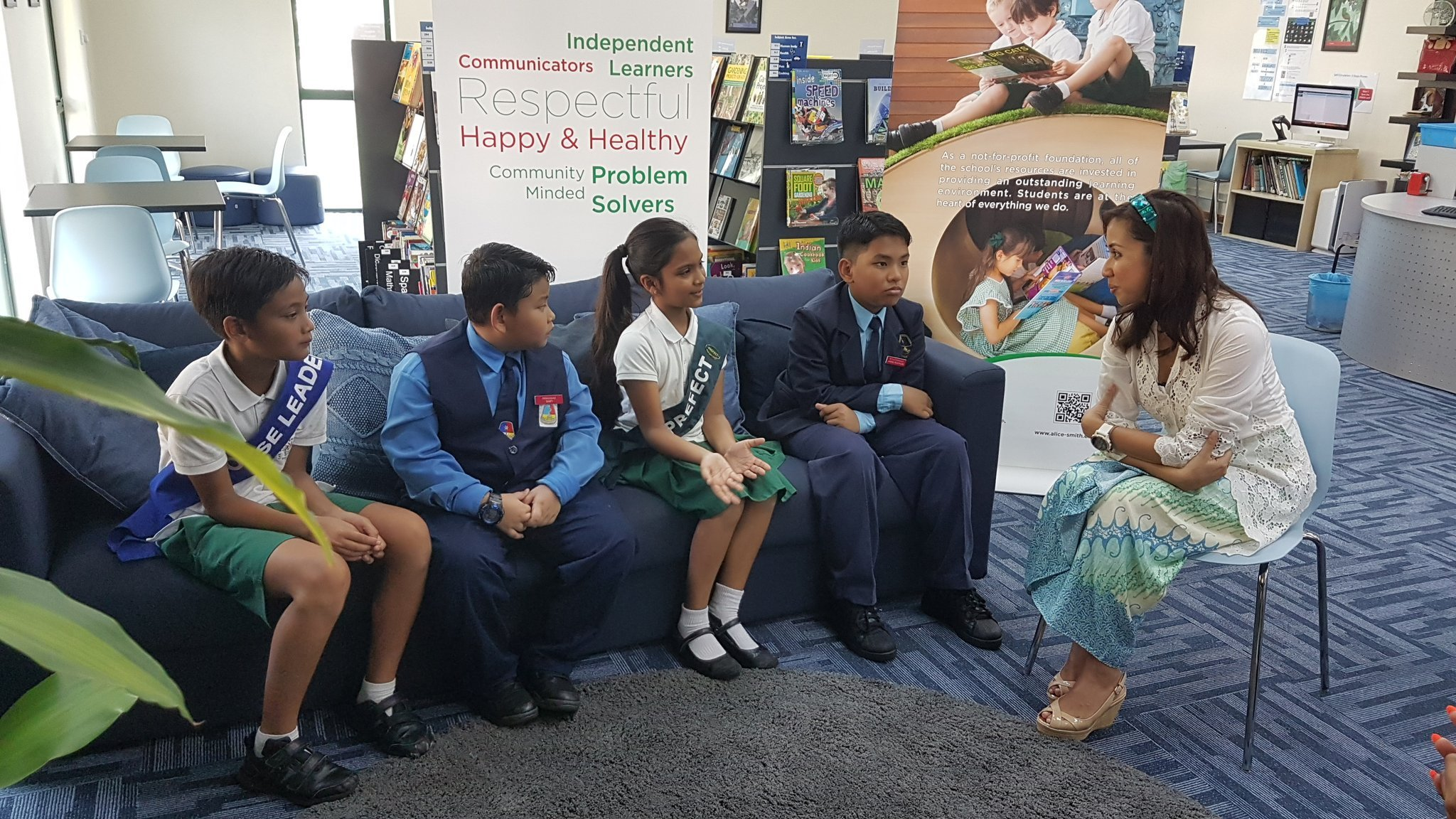 Selangor Princess Tengku Zatashah Visits Alice Smith Primary Campus