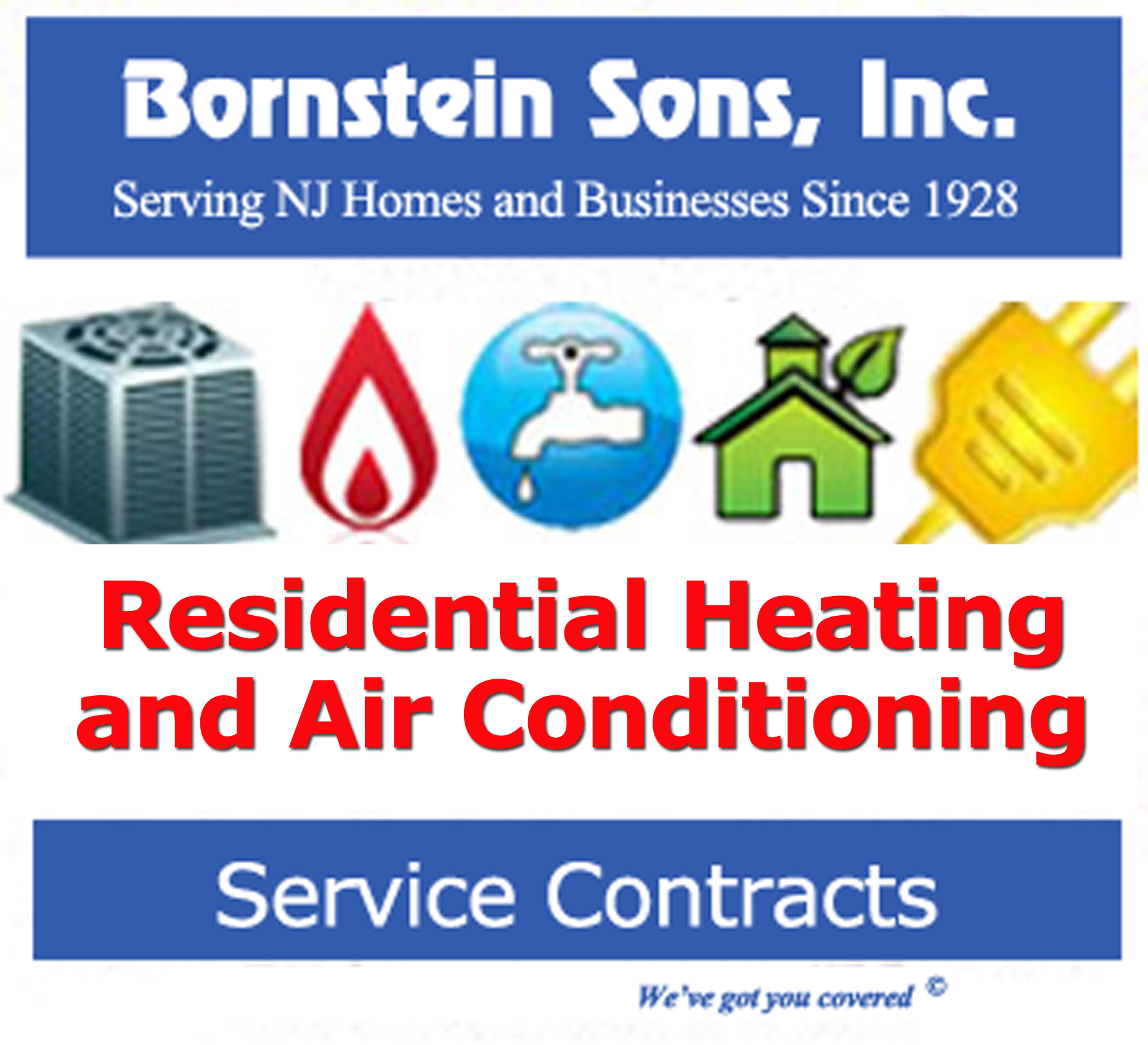 Bornstein Sons offers Service Contracts for Residential Customers in northern and north central New Jersey.