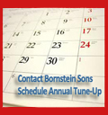 Schedule your annual tune-up service with Bornstein Sons today!
