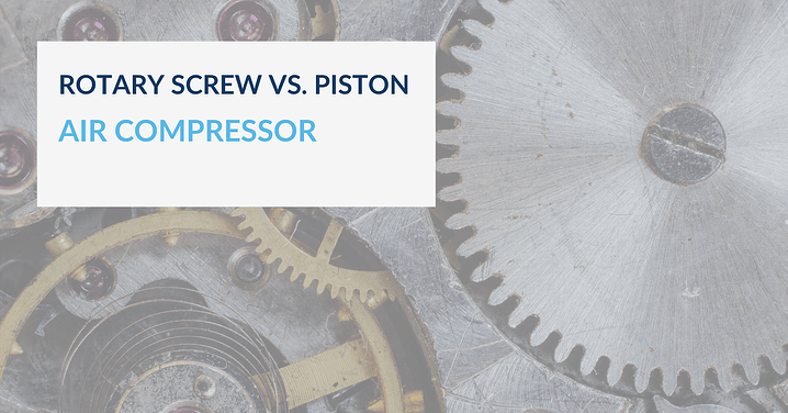 When is a rotary screw compressor better than a piston compressor?