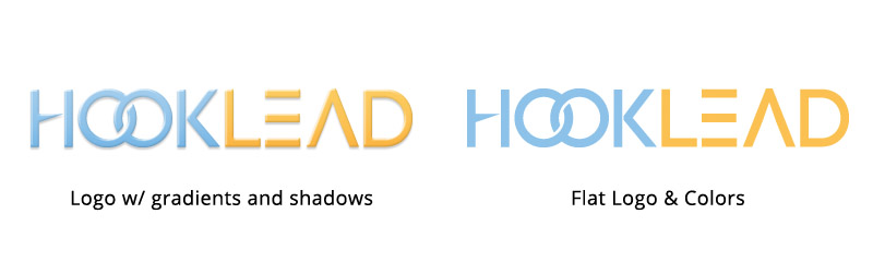 HookLead Logo - Flat Design Comparison