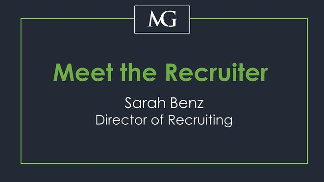 Meet the Recruiter: Sarah Benz