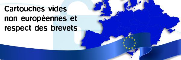 Note d'info sur l'utilisation des cartouches vides non européennes