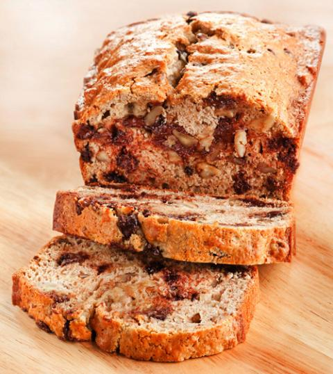 Banana Bread with Walnuts and Chocolate