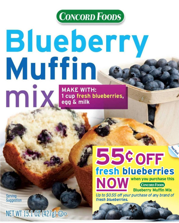 IRC program on Concord Foods Blueberry Muffin Mix