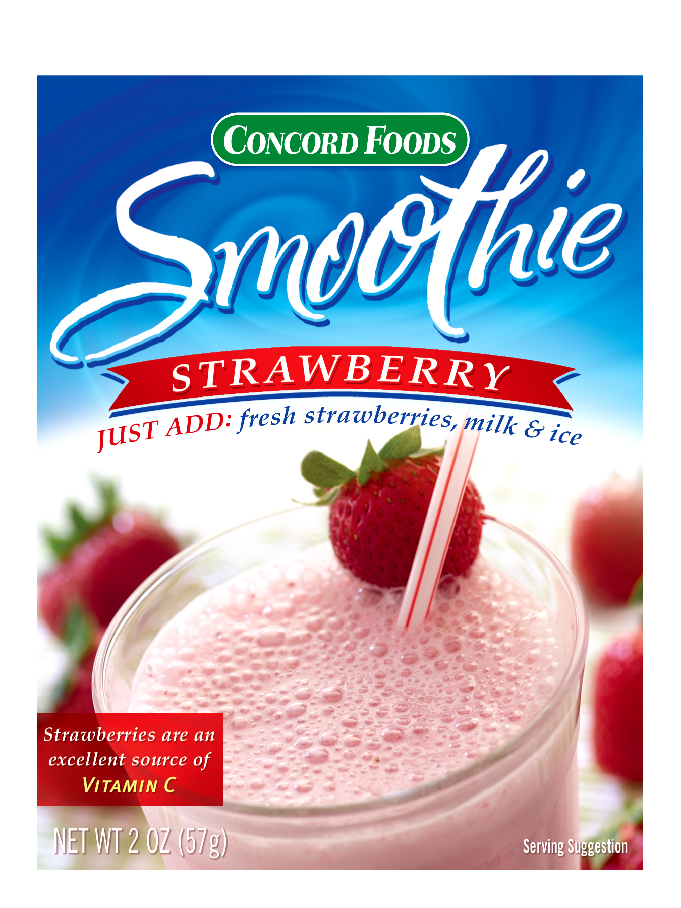 Concord Foods Strawberry Smoothie Mix