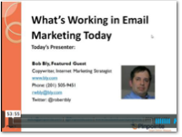email marketing webinar bly