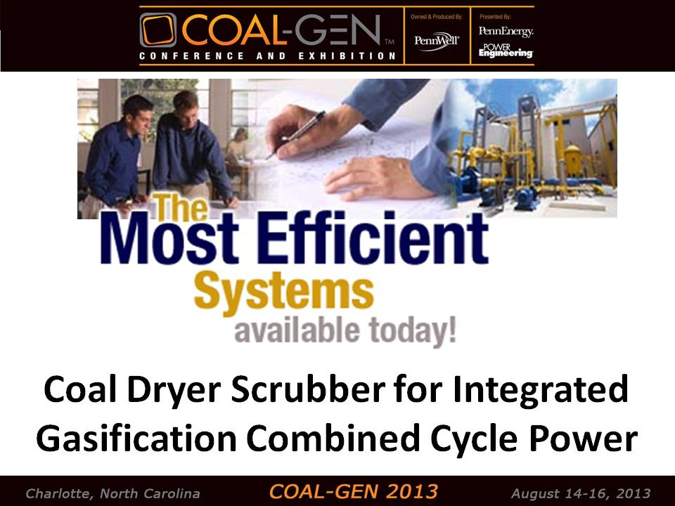 Coal dryer scrubber