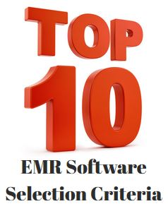 EHR Software Selection Criteria