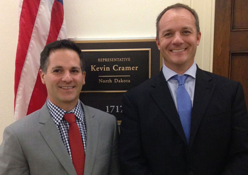 AED Vice President of Government Affairs Daniel Fisher and Accruit CEO Brent Abrahm