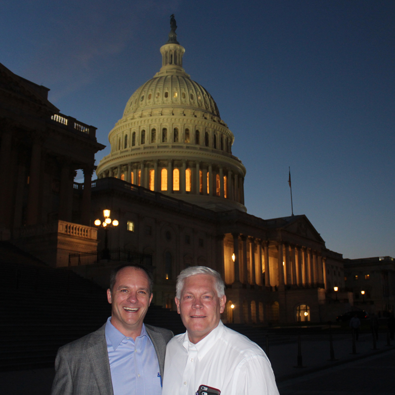 Representative Pete Sessions and Accruit CEO Brent Abrahm