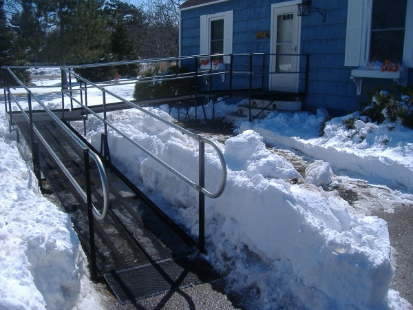 Amramp's Patented Wheelchair Ramp Surface Improves Safety and Accessibility in Wintery Conditions