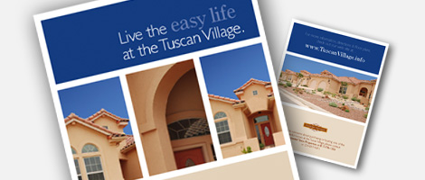 Real Estate sales promotion through the Tuscan Village brochure – Sales Brochure