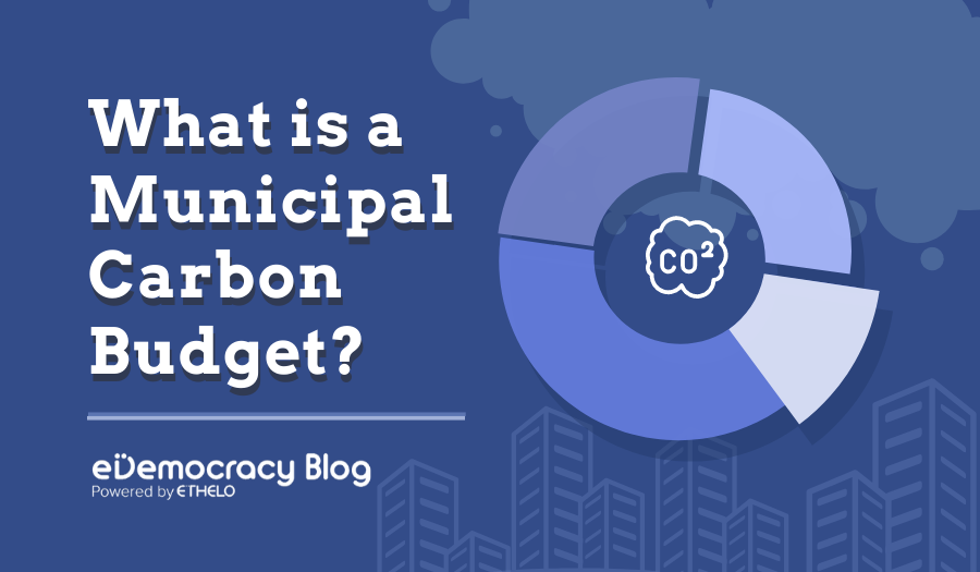 What is a municipal carbon budget?