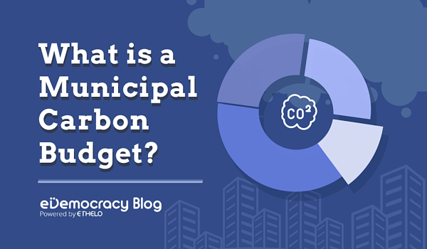What is a carbon budget as it pertains to local governments?
