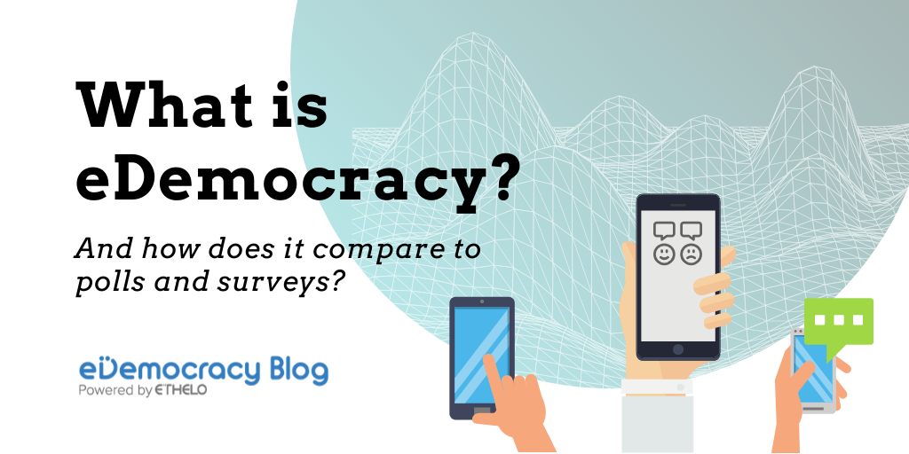 What is eDemocracy and how does it compare to polls and surveys?