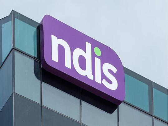 NDIS sign on building