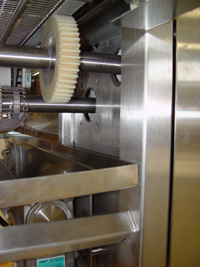 Power-Core gear for bakery conveyor system
