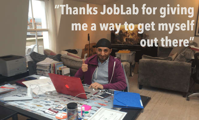 Thanks JobLab for giving me a way to get myself out there!
