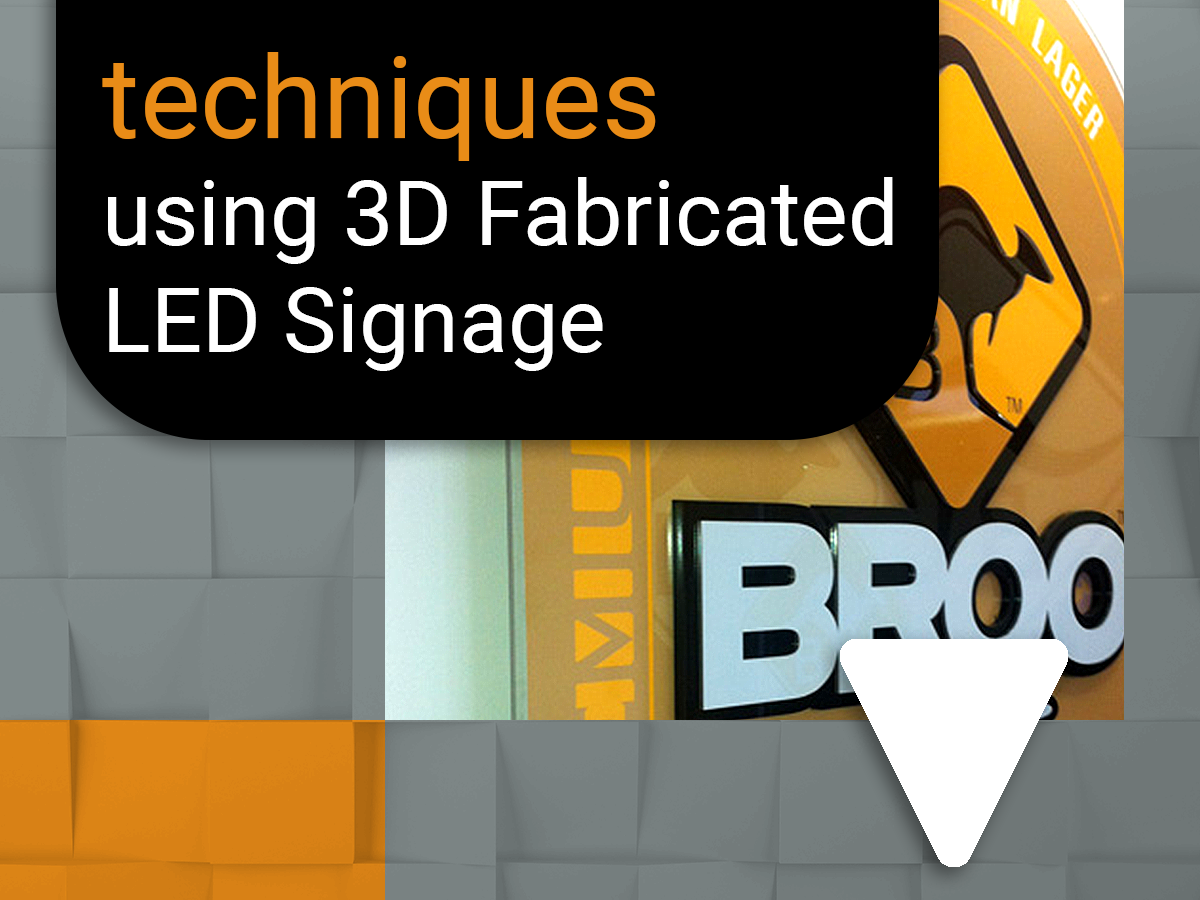 Effective branding techniques using 3D Fabricated LED signage
