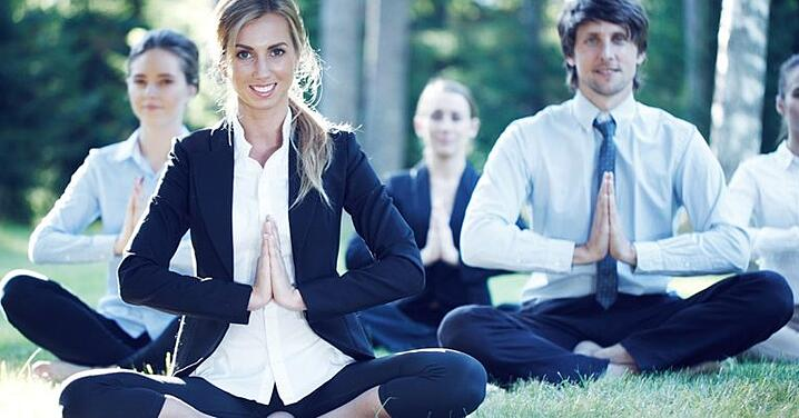 3 Yoga Poses At Work To Try On A Stressful Day