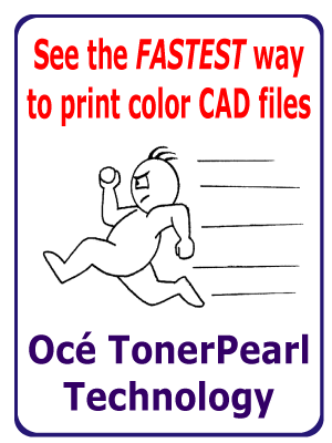 fastest way to print color CAD files TonerPearl Technology