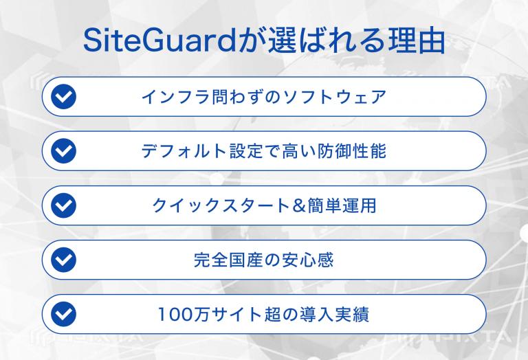 国産ソフトウェア型WAF「SiteGuardシリーズ」