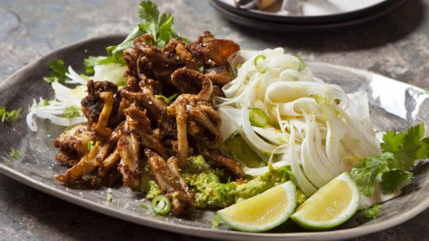 Recipe: Spiced Calamari with Fennel & Smashed Avocado