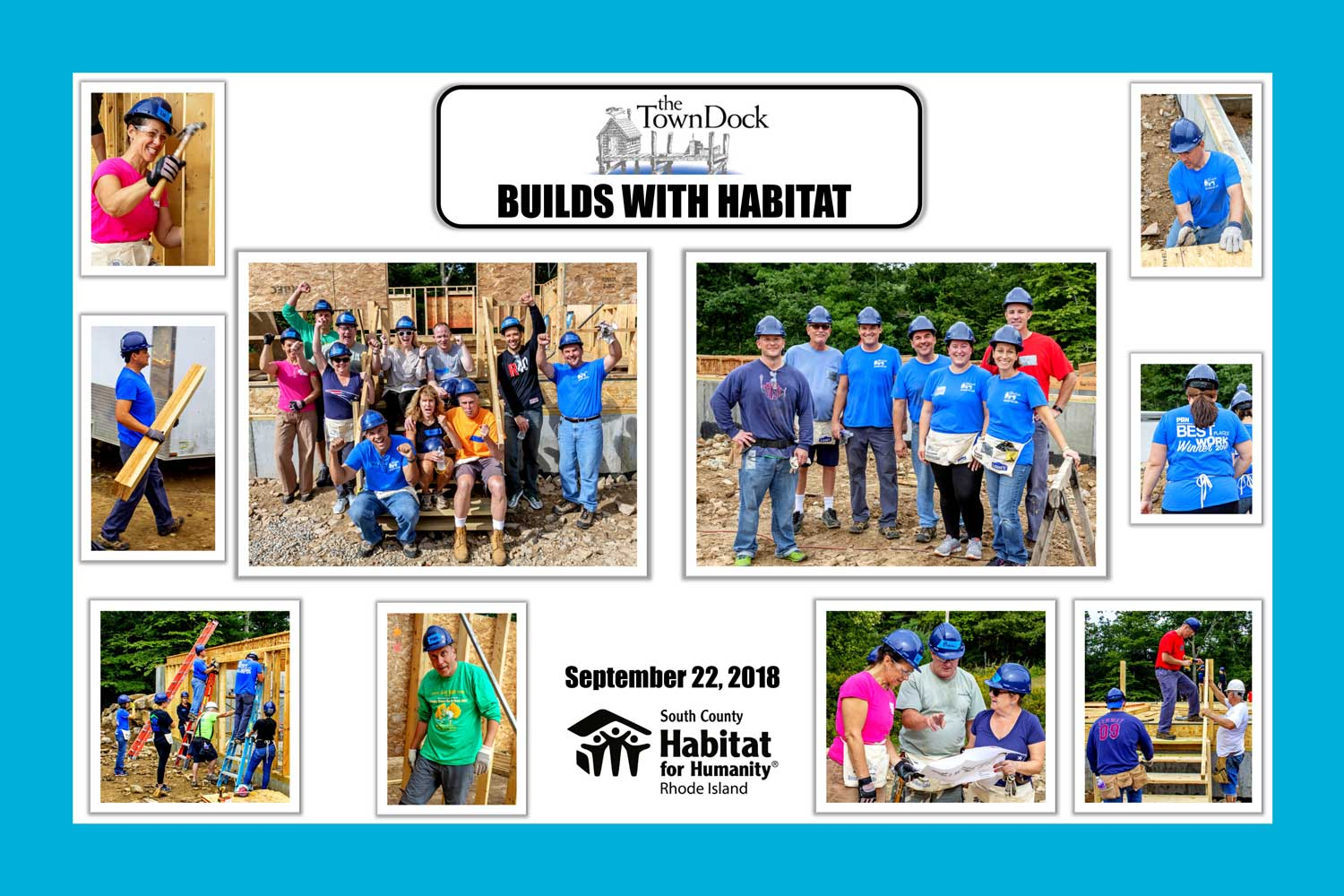Town Dock Volunteers Help Out South County Habitat for Humanity
