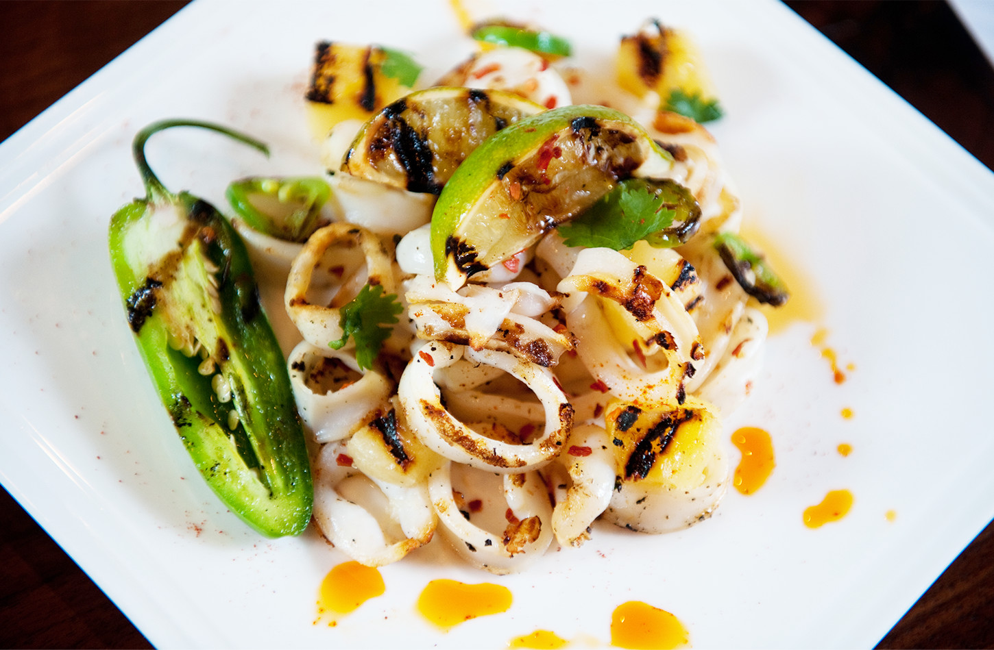 Recipe: Grilled Squid with Pineapple and Roasted Garlic