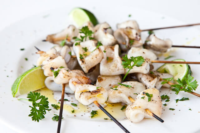 Grilled Calamari for the Summer