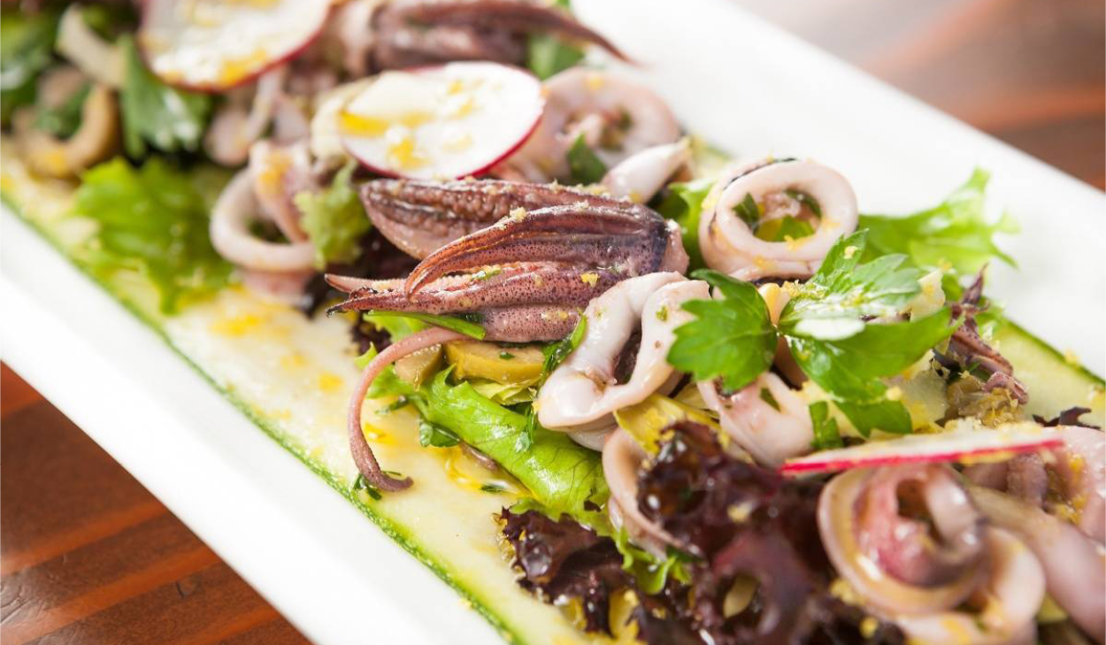 Recipe:Spring Mediterranean Calamari Salad
