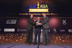 sigma igaming Pin Projekt nets Best Lottery Solution prize at G2E Asia Awards