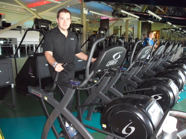 Paddy uses the Arc both at the gym and at home