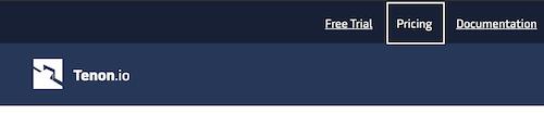 screencap: pricing menu