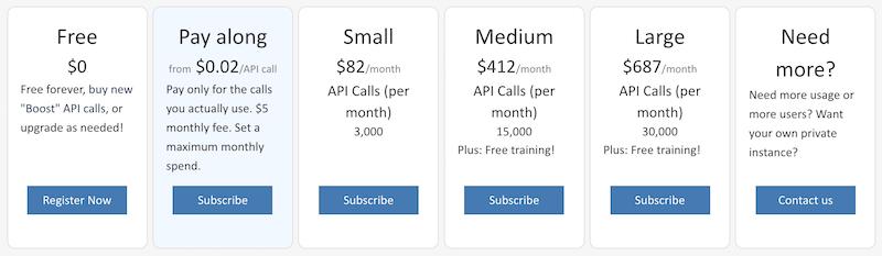 screencap: pricing plans, pay-along