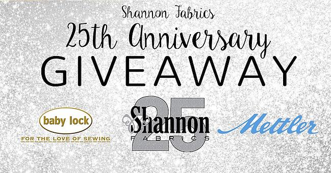 shannon fabrics 25th anniversary giveaway