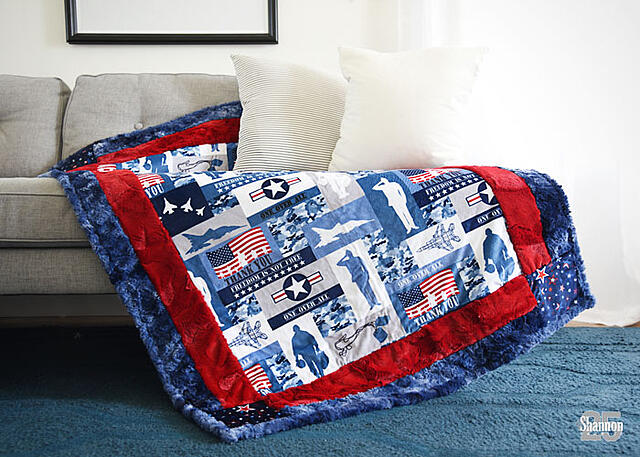 Patriotic and Military-Themed Cuddle® Minky fabric collection