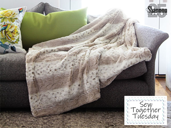 how to sew a throw blanket