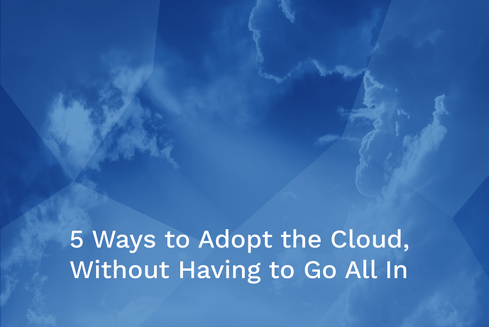 5 Ways to Adop Cloud Main