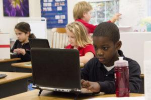 Elementary Boy Study at Computer