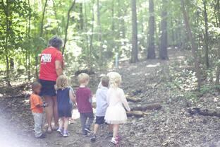 preschool walk in woods