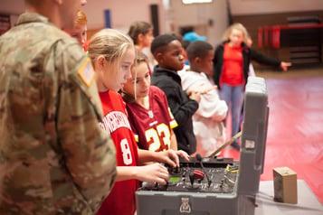 army robot controls