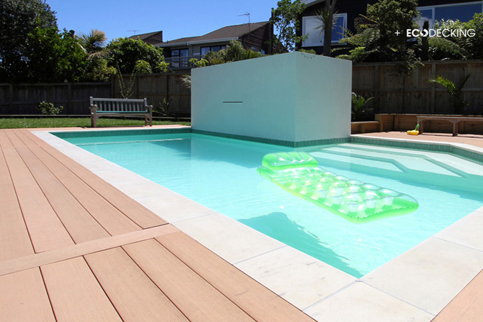 Swimming pool deck and on waterproof membrane - Swimming pool maintenance auckland ...