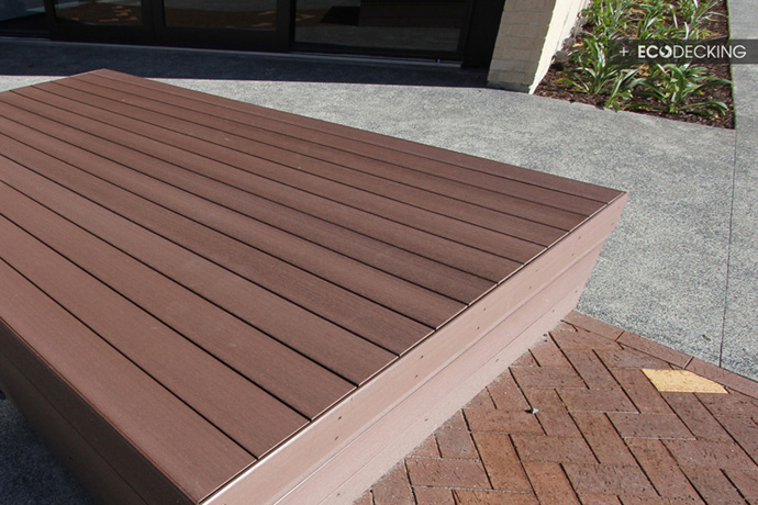 Decking for ormiston school for Non wood decking material